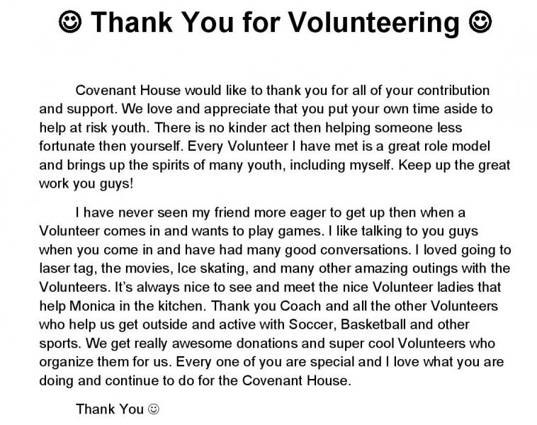 How to write a letter of appreciation for volunteers