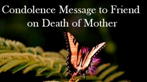letter of condolence for mother