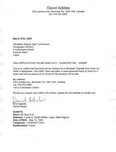 Letter Of Invitation For Parents To Visit Canada Sample Amp Templates