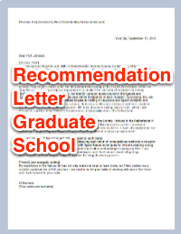 Letter Of Recommendation For Graduate School Sample Templates