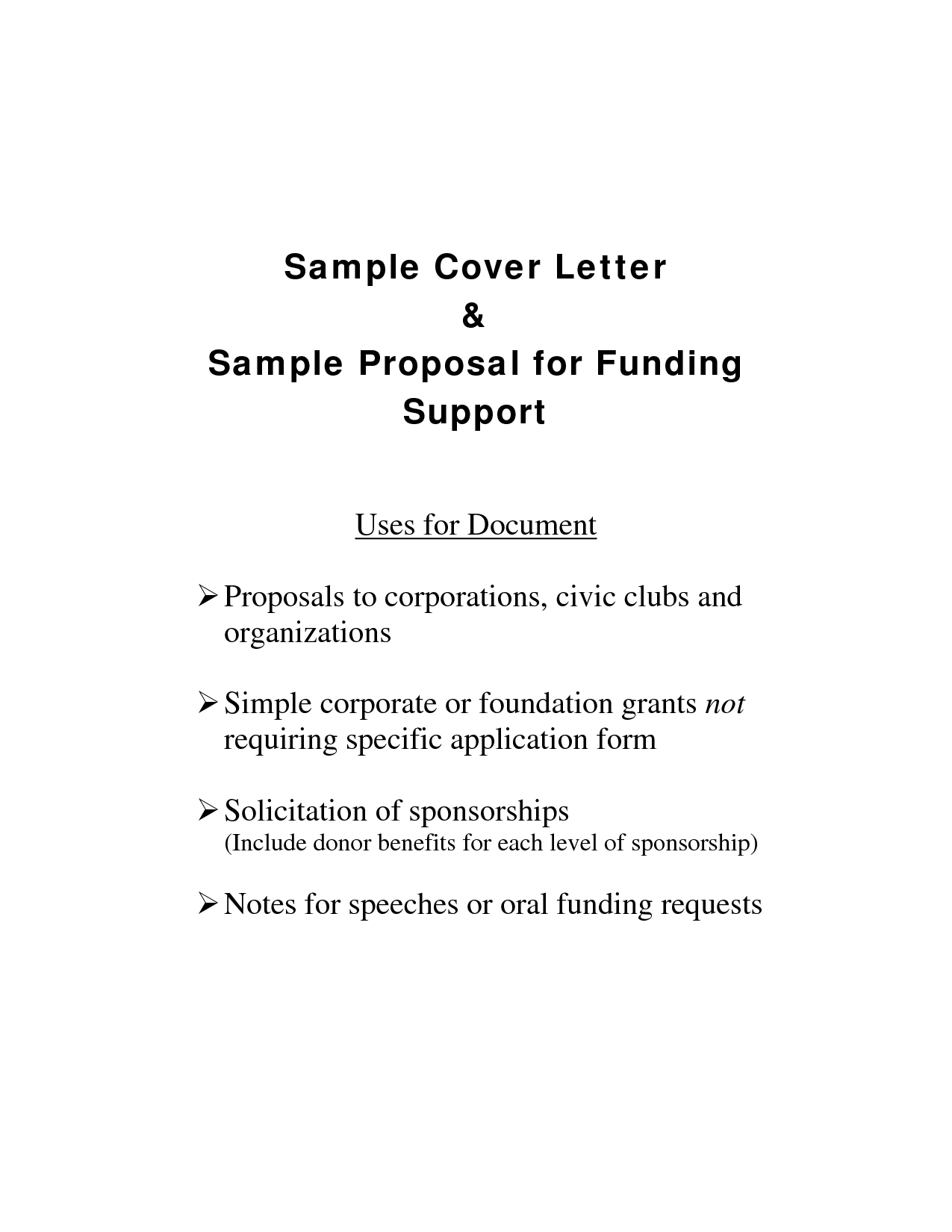 Sample Letter Of Support For Grant Proposal Infoupdate