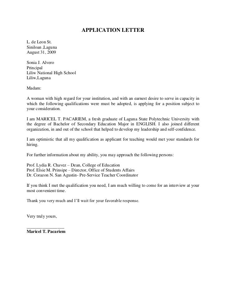 letter of application for primary teaching post How to write a successful application for a teaching post relevant to my post at my mind in writing a good application letter by reminding you of.
