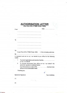 Authorization Letter Sample To Claim Documents Nso