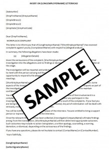 Letter of complaint to hr sample templates letter of complaint to hr spiritdancerdesigns Image collections