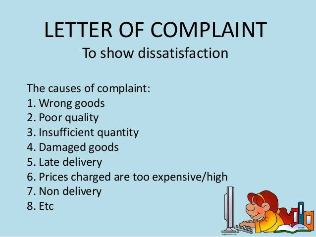 Clothing Complaint Sample Letters