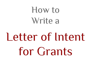 letter of intent for grant sample templates