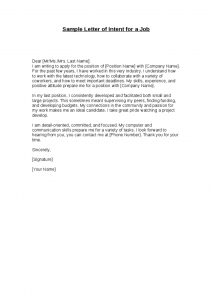 Sample Of Letter Of Intent For A Job from www.sampleletter1.com