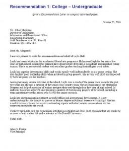 Letter Of Recommendation Samples For Student from www.sampleletter1.com